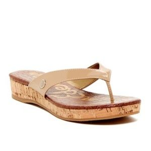 Sam Edelman Tanya Platform Thong Sandal Nude